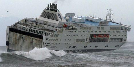 disagi e navi da Genova in ritardo