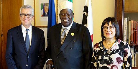 Pigliaru e Spano col vice premier dell´Uganda