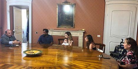 Nicola Sanna incontra un gruppo di genitori