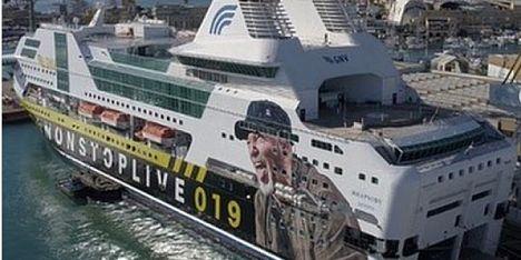 La nave di Vasco a Porto Torres il 19 maggio